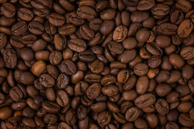 closeup of roasted coffee beans photo free download