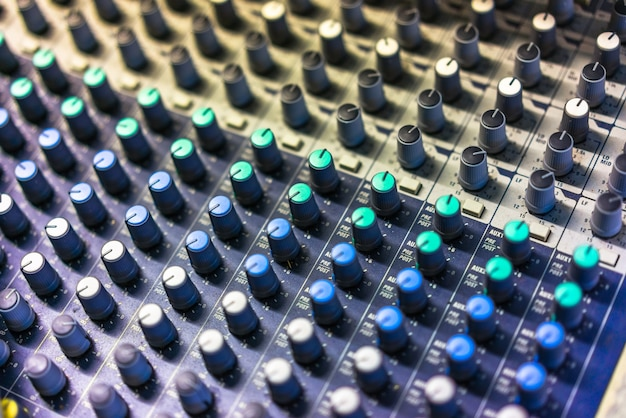 Close-Up Of Sound Mixer Free Photo