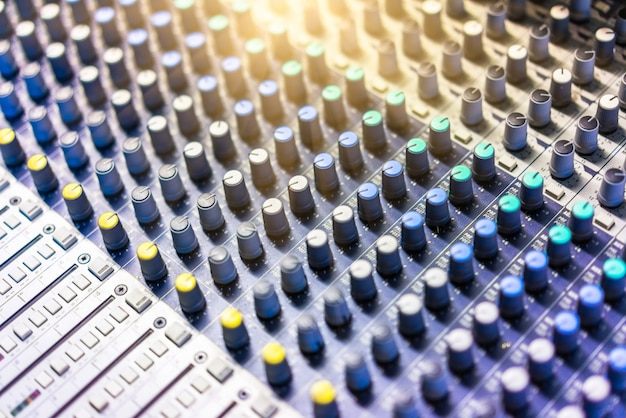 Close-Up Of Sound Mixer Free Photo