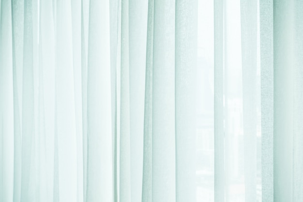 Close-up of white curtains Free Photo