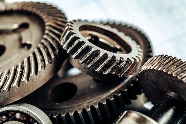 Close up of old rusty car parts Premium Photo
