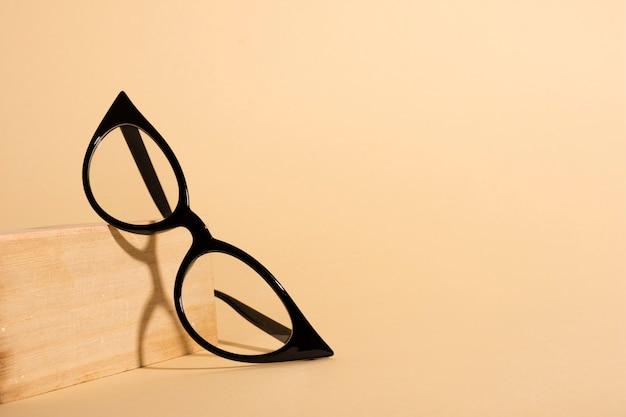 Close-up optical retro eyeglasses Free Photo