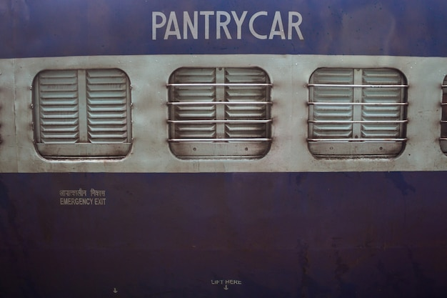 Close up of a pantry car on a train Free Photo