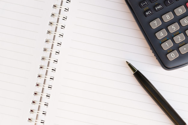 Close up of pen and notebook Premium Photo