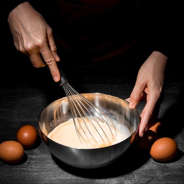 クローズアップ人の料理 無料写真