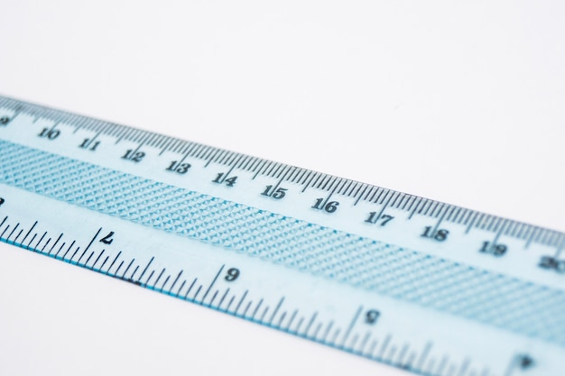 Close-up of plastic ruler Free Photo