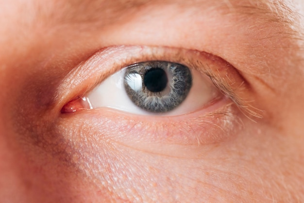 Close up portrait of eyes of man Free Photo