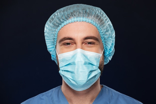 Close up portrait of a male surgeon Free Photo