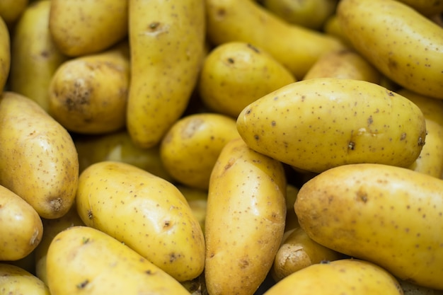 Close up potato background Premium Photo