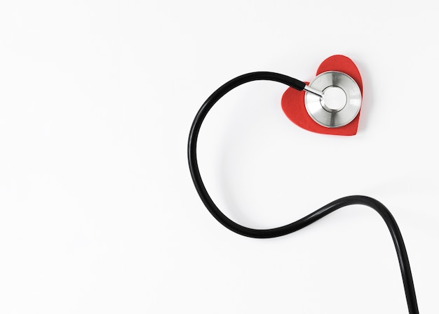 Close-up professional stethoscope with copy space Free Photo