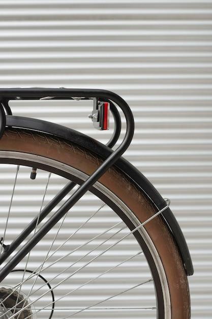 Close-up rear wheel vintage bicycle Free Photo