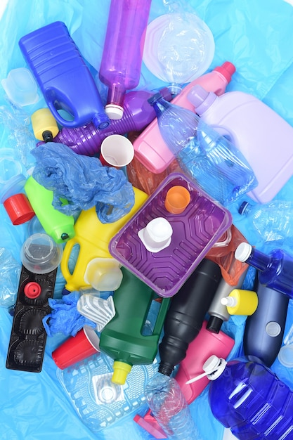 Close up of a recycling plastic Premium Photo
