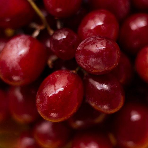 Close up red grapes Free Photo