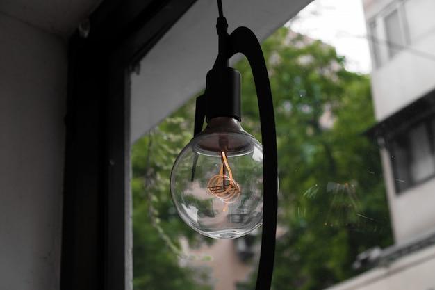 Close-up of a retro light bulb Free Photo