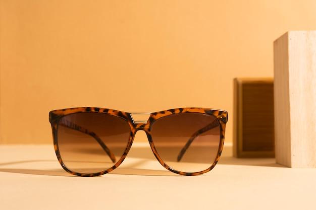 Close-up retro sunglasses with plastic frame Free Photo