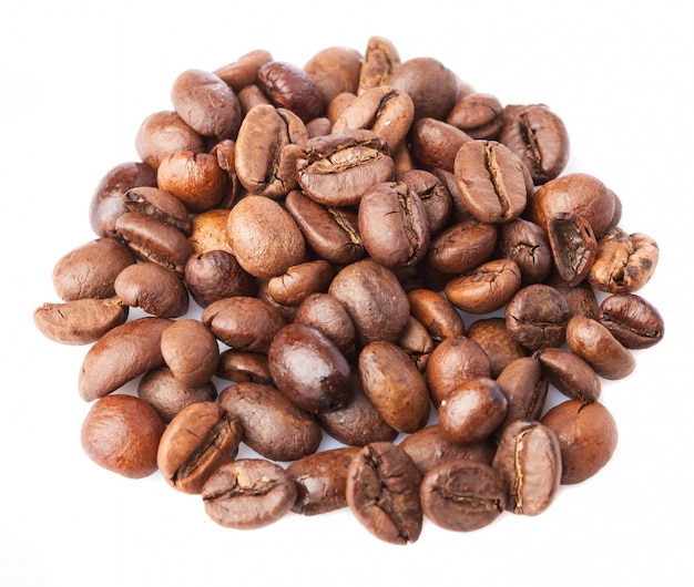 Close-up of roasted coffee beans Free Photo