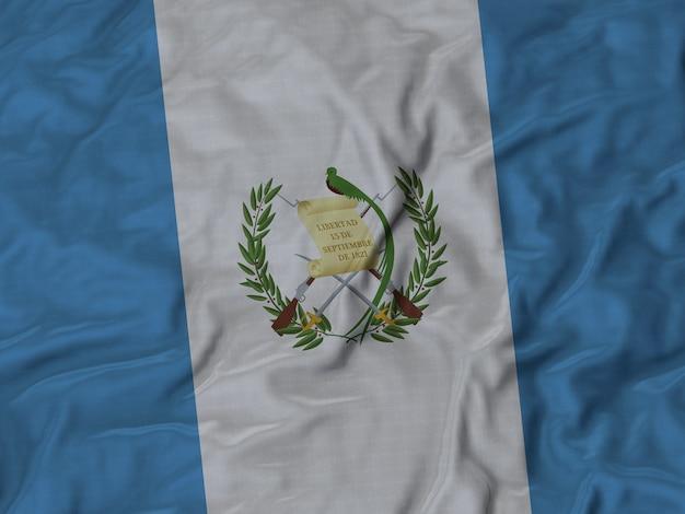 Close up of ruffled guatemala flag Premium Photo