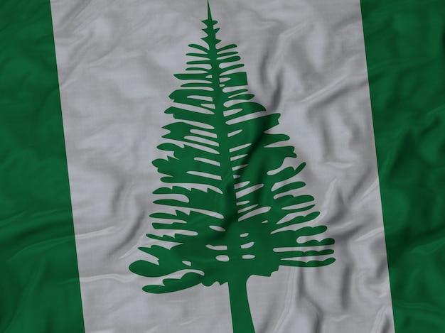 Close up of ruffled norfolk island flag Premium Photo