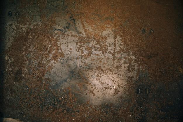 Close-up of rusty metallic steel plate Free Photo