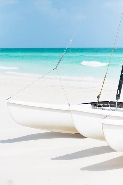 Close-up sailing boats at the seaside Free Photo
