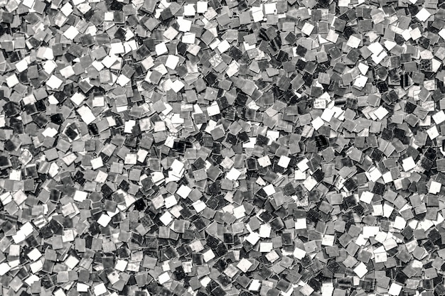 Close up of silver sequin background Free Photo