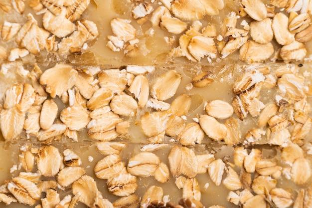 オート麦フレークで作られたクローズアップ石鹸 無料写真