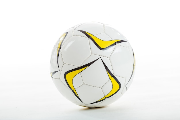 Close-up of soccer ball Free Photo