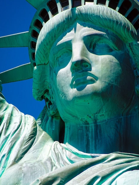 Close up of statue of liberty in new york Premium Photo