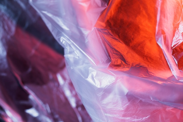 Close up surface of plastic bag Free Photo