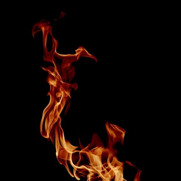 Close-up swirling fire Premium Photo