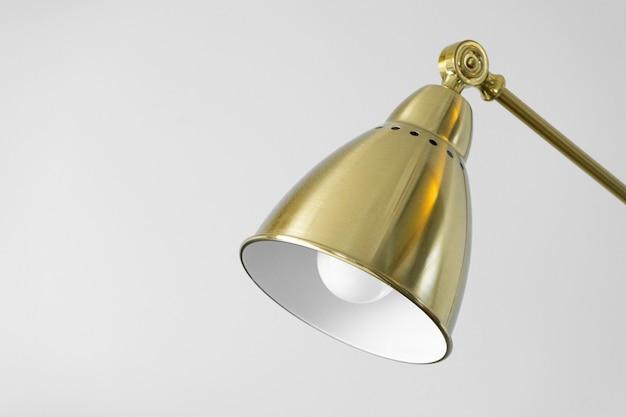 Close-up table lamp shade, cone, reflector Premium Photo