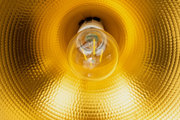 Close-up table lamp shade, cone, reflector Premium Photo