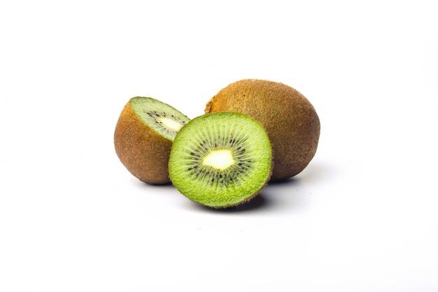 Close-up of tasty kiwi on white background Free Photo