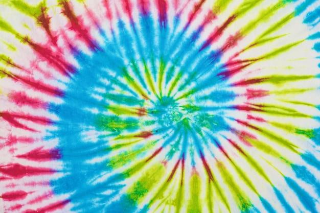 Close up tie dye fabric texture background Premium Photo