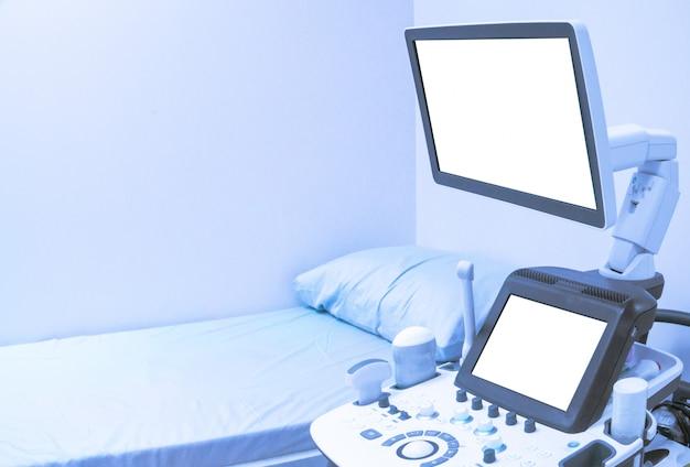 Close-up ultrasound machine Premium Photo