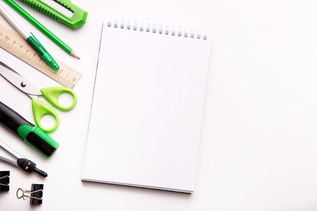 Close up of various school items Premium Photo