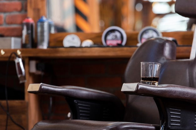 Close-up view from barber shop Premium Photo