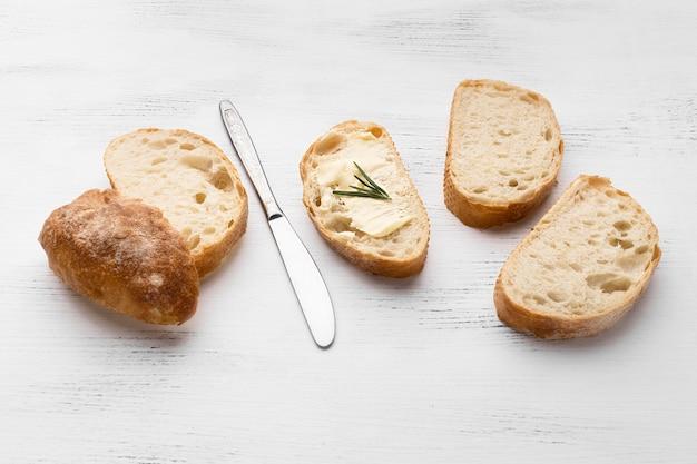 パンのスライスの概念のクローズアップビュー 無料写真