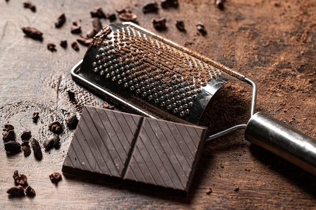 チョコレートバーの概念の拡大図 無料写真