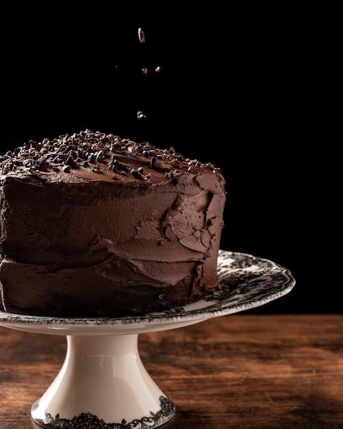おいしいチョコレートケーキのコンセプトの拡大図 無料写真