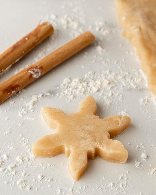 Крупным планом вкусное печенье Premium Фотографии