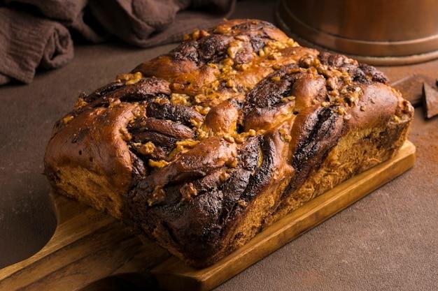 Крупным планом вид вкусного сладкого хлеба Бесплатные Фотографии