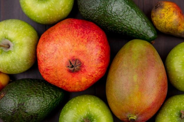 さまざまな果物のクローズアップ表示 無料写真