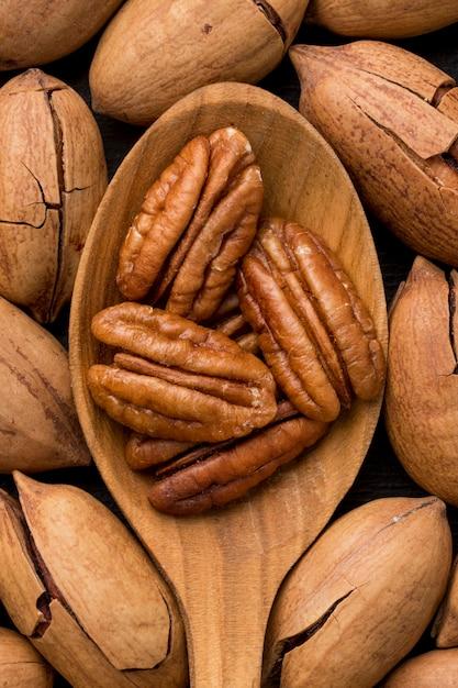 Расположение концепции орехов крупным планом Бесплатные Фотографии