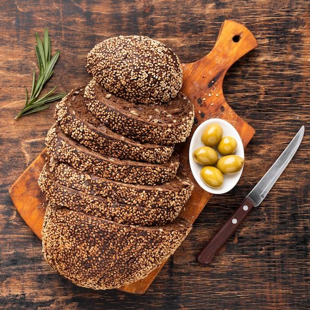 Крупный план концепции семенного хлеба Бесплатные Фотографии
