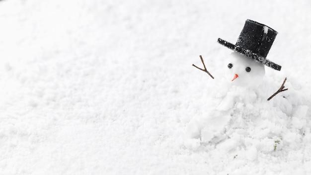 Крупным планом вид концепции снеговика Premium Фотографии