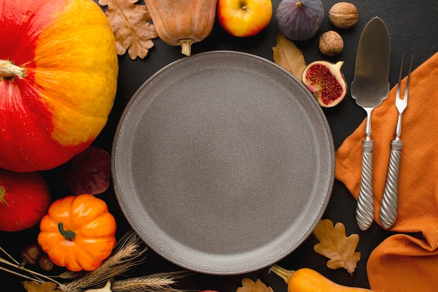Крупным планом вид концепции еды благодарения Бесплатные Фотографии