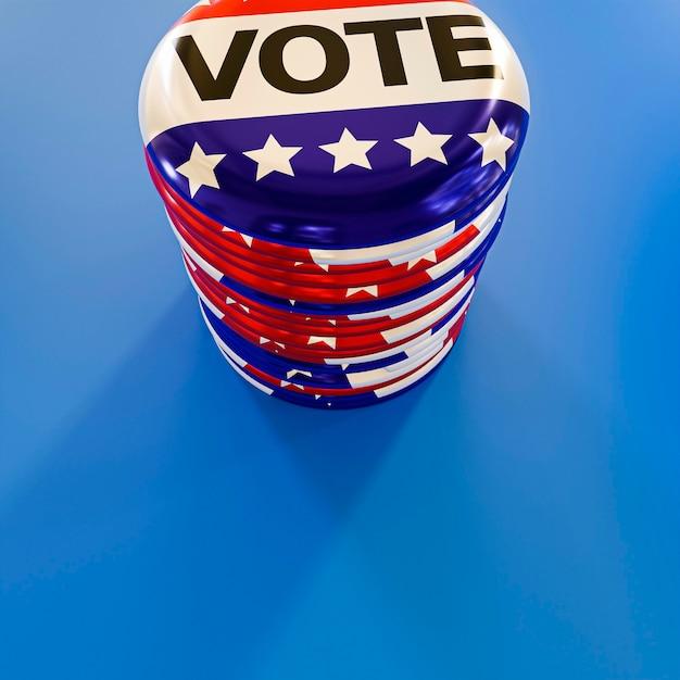 米国の選挙の概念の拡大図 無料写真