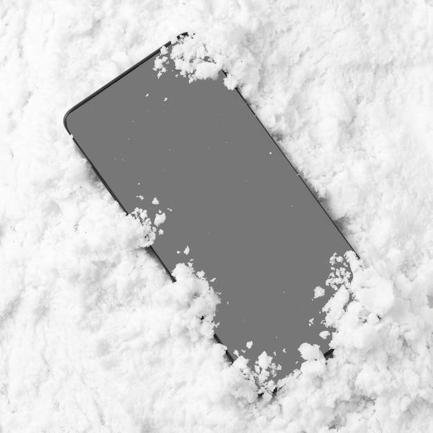 Крупным планом вид концепции зимнего снега Premium Фотографии
