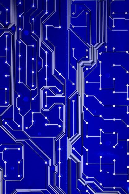 Close up view of a printed keyboard circuit. Premium Photo